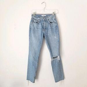 Grlfrnd karolina raw hem jeans size 23